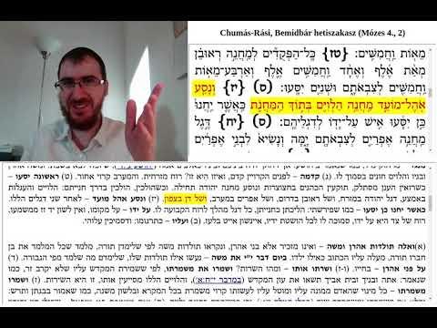 Chumás-Rási, Bemidbár 3. (2:3-24)
